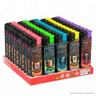 SmokeTrip Accendini Elettronici Ricaricabili Fantasia Cocktails 3 - Box da 50 Accendini