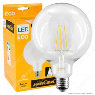 Marino Cristal Serie ECO Lampadina LED E27 7W Globo G125 Filament Dimmerabile - mod. 21548