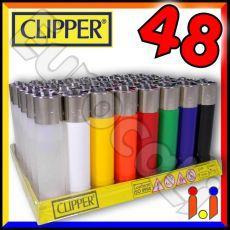 Clipper Large Fantasia Solid - Box da 48 Accendini