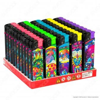SmokeTrip Accendini Elettronici Ricaricabili Fantasia Olympians - Box da 50 Accendini