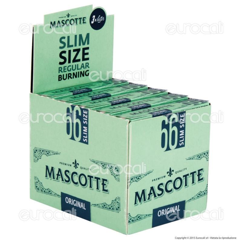 Cartine Mascotte 66 Slim Corte - Scatola da 50 Libretti