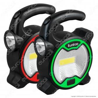 Uniross Torcia Mini Multiuso 1W 3W 2 Modalità di Illuminazione