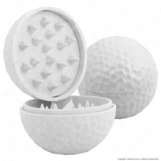 Grinder Palla Da Golf Tritatabacco 2 Parti in Plastica
