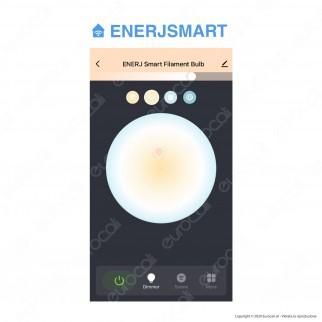 Ener-J Lampadina LED Smart Wi-Fi E27 8.5W Dimmerabile - Bulb ST64 Filamento - mod. SHA5310