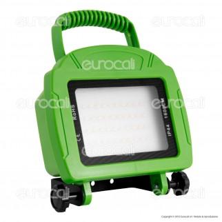 V-Tac VT-4822 Faretto LED SMD 20W Ricaricabile a Batteria Colore Verde