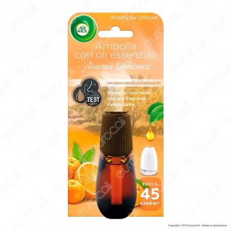 Air Wick Armonia Istantanea Mandarino e Arancia Dolce - Ricarica Per Diffusore Oli Essenziali da 20ml