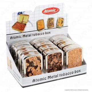 Atomic Portatabacco e Cartine in Metallo