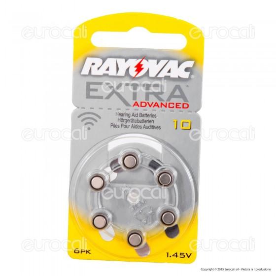 Rayovac Extra Advanced Senza Mercurio Misura 10 - Blister 6 Batterie per Protesi Acustiche