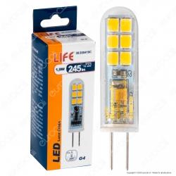 Life Lampadina LED G4 1,9W Bulb in Vetro - mod. 39.930419C / 39.930419F