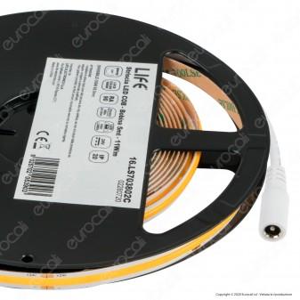 Life Striscia LED COB Monocolore 11 W/metro - Bobina da 5 metri - mod. 16.LS703802C / 16.LS703802N / 16.LS703802F