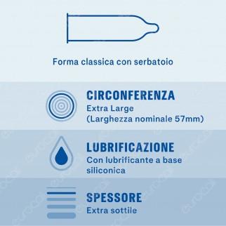 Preservativi Durex Invisible XL - Scatola da 6 pezzi