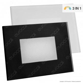 FAI Punto Luce Segnapasso LED Montaggio a Incasso Rettangolare 3W IP66 3in1 Changing Color - mod. 5111/BI / 5111/NE