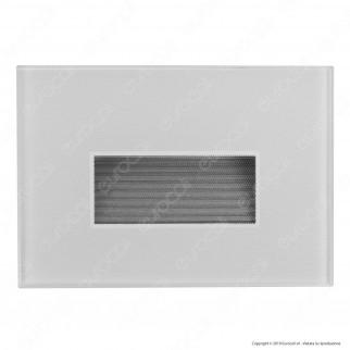 FAI Punto Luce Segnapasso LED Montaggio Incasso Rettangolare 3W 38° IP66 3in1 Changing Color - mod.5109/BI / 5109/NE