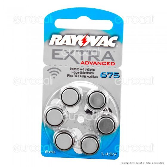 Rayovac Extra Advanced Senza Mercurio Misura 675 - Blister 6 Batterie per Protesi Acustiche