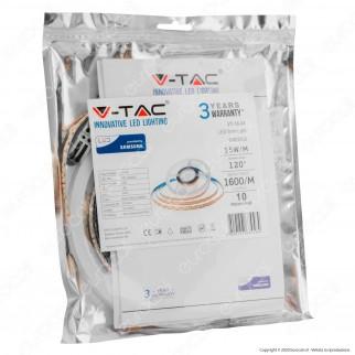 V-Tac PRO VT-10-24 Striscia LED 2835 Monocolore 240 LED/metro 24V Chip Samsung - Bobina da 10 metri - SKU 320 / 321 / 322