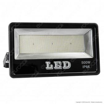 Sure Energy Faro LED SMD 500W da Esterno IP66 in Alluminio Colore Nero - mod. T240