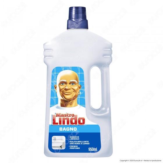 Mastro Lindo Detergente Liquido per il Bagno - Flacone da 950ml
