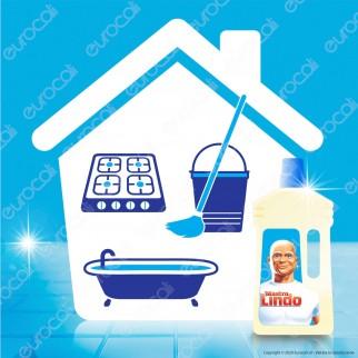 Mastro Lindo Detergente Gel con Candeggina per Cucina e Bagno Profumo di Eucalipto - Flacone da 950ml