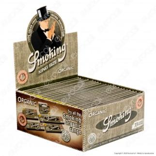 A00029010 - Cartine Smoking King Size Organic Lunghe 100% Bio - Scatola da 50 Libretti