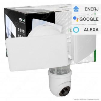 Ener-J Smart Faretto con Telecamera di Sicurezza Wi-Fi 1080p e Sensore di Movimento - mod. SHA5293 / SHA5294