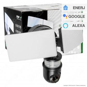 Ener-J Smart Faretto LED 30W con Telecamera di Sicurezza Wi-Fi 1080p e Sensore di Movimento - mod. SHA5294