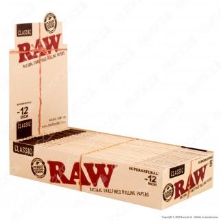PROV-A03898021 - Cartine Raw Classic Supernatural 12 Inch King Size Lunghe Giganti - Scatola da 20 Libretti