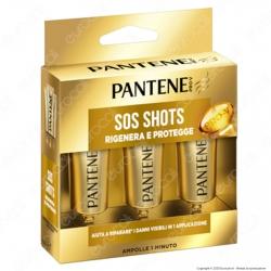 Pantene Pro-V Rigenera e Protegge Sos Shots Maschera per Capelli Deboli e Danneggiati - 3 Applicazioni da 15ml