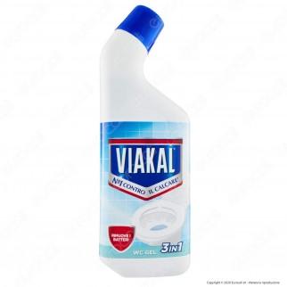 Viakal WC Gel Bagno 3 in 1 Anticalcare - Flacone da 750ml