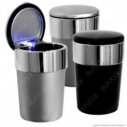 Posacenere da Auto Portatile con Illuminazione LED