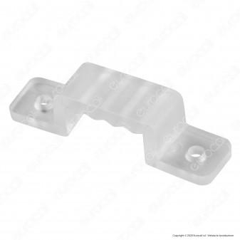 V-Tac Clip di Fissaggio in Plastica Trasparente per Strisce LED Neon Flex - SKU 2566