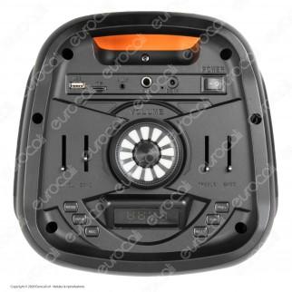 V-Tac Audio VT-6307-2 Cassa Speaker 700W con Bluetooth LED RGB Telecomando e Microfono - SKU 8981