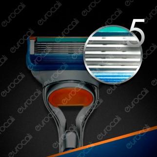 Gillette Fusion Rasoio Uomo 5 Lame con 11 Lamette di Ricarica