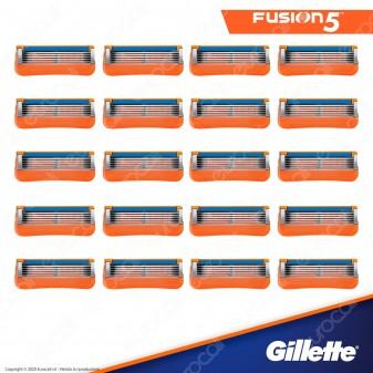Gillette Fusion Lamette di Ricambio con 5 Lame per Rasoio Uomo - Confezione da 20