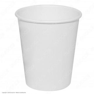 50 Bicchieri WeBio in Carta Biodegradabile Compostabile Colore Bianco per Bevande Calde e Fredde da 180ml