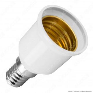 LED Line Adattatore per Lampadine da E14 a E27 - mod. 242052
