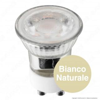 Life Lampadina LED GU10 3W Faretto MR11 Spotlight 38° in Ceramica e Vetro - mod. 39.915016C / 39.915016N