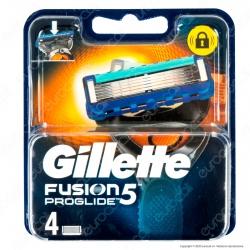 Gillette Fusion Proglide 5 Ricarica di 4 Testine Lamette per Tutti i Rasoi Gillette Fusion
