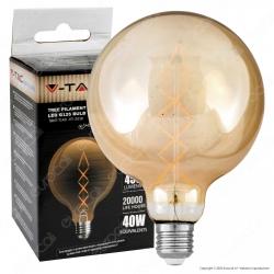 V-Tac VT-2018 Lampadina LED E27 7W Globo G125 Filamento Ambrata - SKU 7149