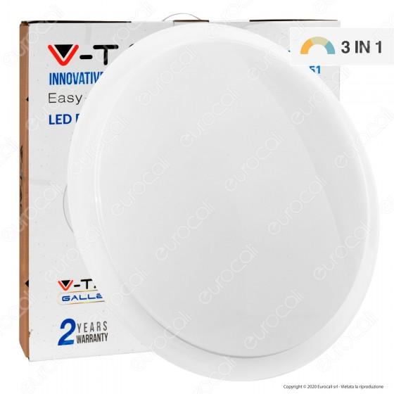 V-Tac VT-8472 Plafoniera LED 3in1 36W / 72W Forma Circolare Effetto Cielo Stellato con Telecomando - SKU 14951