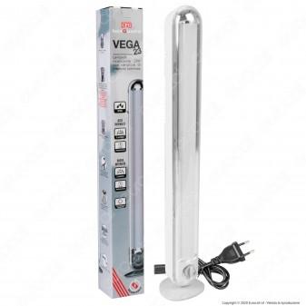 CFG Vega Lampada LED 23W Ricaricabile con Variatore di Intensità Luminosa Dimmerabile Anti Black Out - mod. EL074