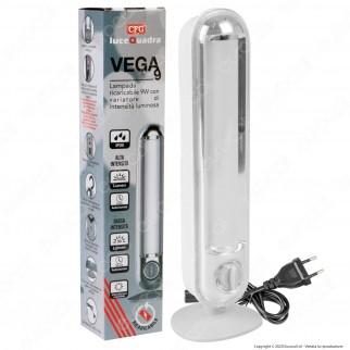 CFG Vega Lampada LED 9W Ricaricabile con Variatore di Intensità Luminosa Dimmerabile Anti Black Out - mod. EL072