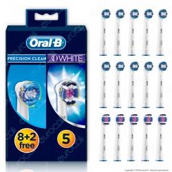 Oral-B 15 Testine Di Ricambio Spazzolino Elettrico Precision Clean + 3D White - Confezione da 15 Testine di Ricambio