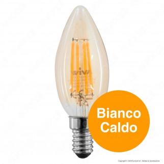 Wiva Antique Lampadina LED E14 4W Candela Ambrata - mod. 12100592