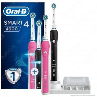 Oral B Spazzolini Elettrici Ricaricabili Smart 4 4900 Confezione Bipacco da 2