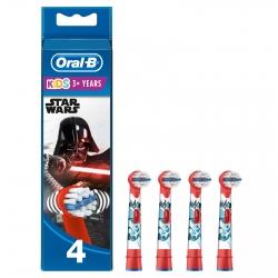 Oral-B Stages Power Testine di Ricambio Star Wars per Spazzolino Elettrico per Bambini - Confezione da 4 testine