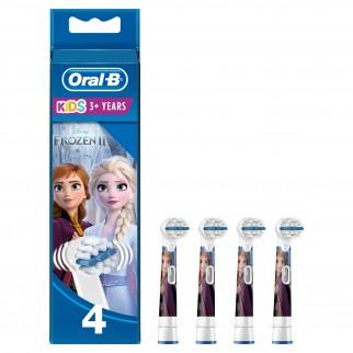Kit Oral-B Spazzolino Elettrico Ricaricabile Vitality Frozen per Bambini + 4 Testine di Ricambio Stages Power + Dentifricio