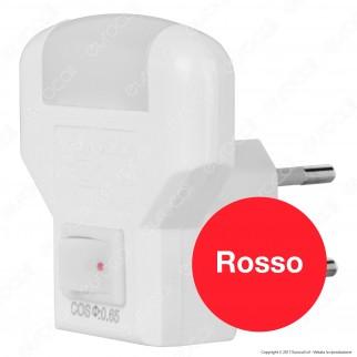 Wiva Punto Luce Notturno LED Point con Interruttore Luce Rossa - mod. 31501305