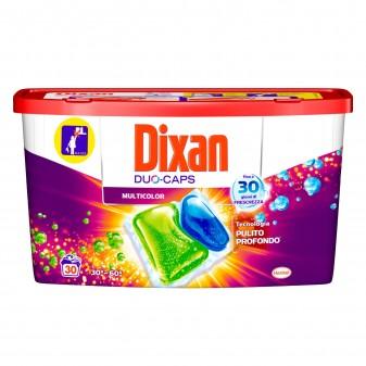 Dixan Duo Caps Multicolor Detersivo in Capsule per Lavatrice Tessuti Colorati - Confezione da 30 Pastiglie