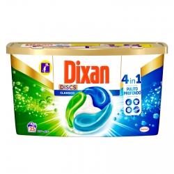 Dixan Discs Classico 4in1 Detersivo per Lavatrice - Confezione da 25 Capsule