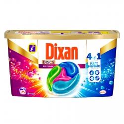 Dixan Discs Multicolor 4in1 Detersivo per Lavatrice - Confezione da 25 Capsule